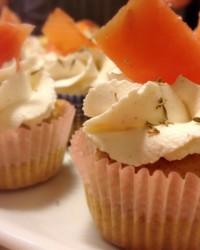 Cupcakes integrali al salmone