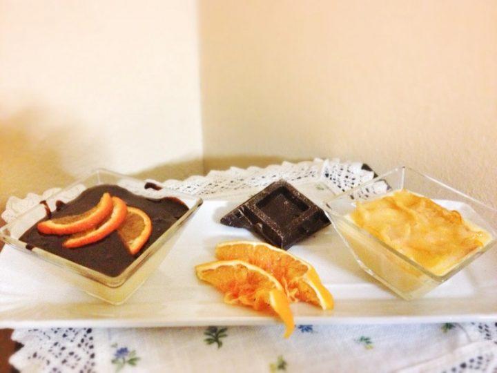 Budino vaniglia e cioccolato
