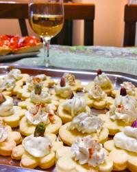 tartine di pasta frolla salata