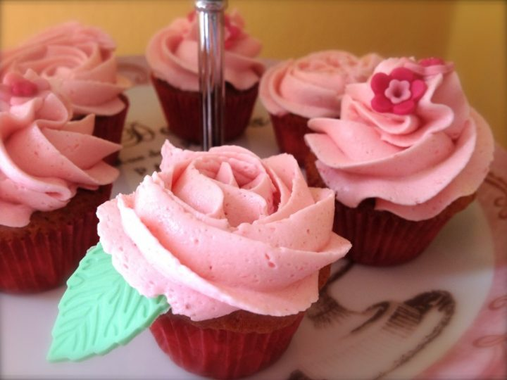 Mini cupcakes alla fragola
