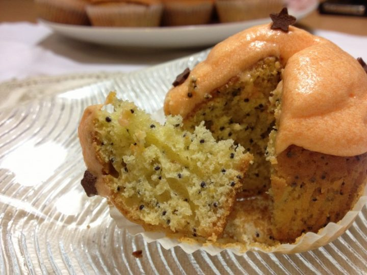 Cupcake semi di papavero e arancia