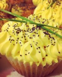 Cupcakes agli zucchini e crema di zafferano