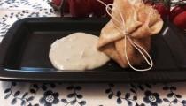 Crepes ripiene con salsa al gorgonzola