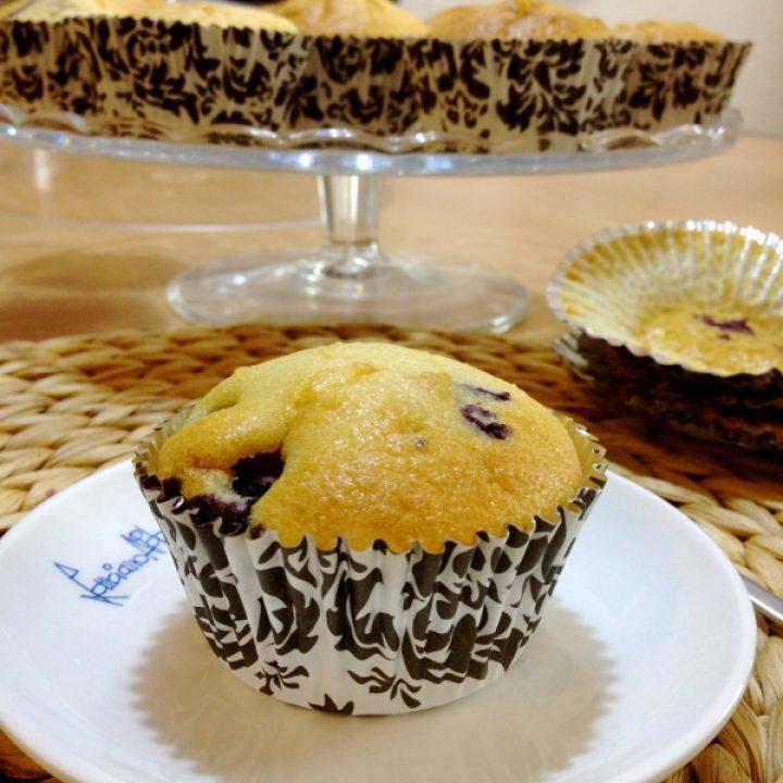 Muffin mirtilli e ginger