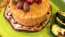 Cous cous con pesto di pomodori secchi e olive taggiasche