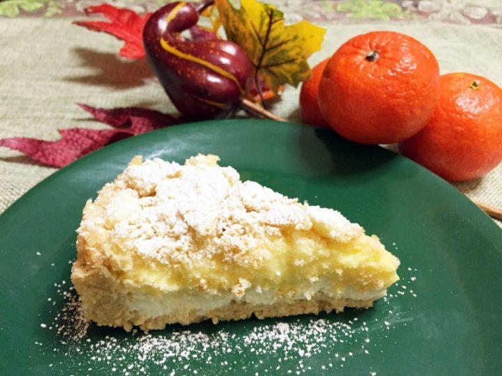 Sbriciolata con crema al mandarino