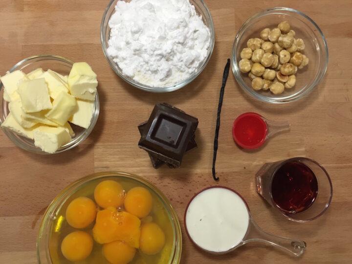 Torta Gianduja - Ingredienti