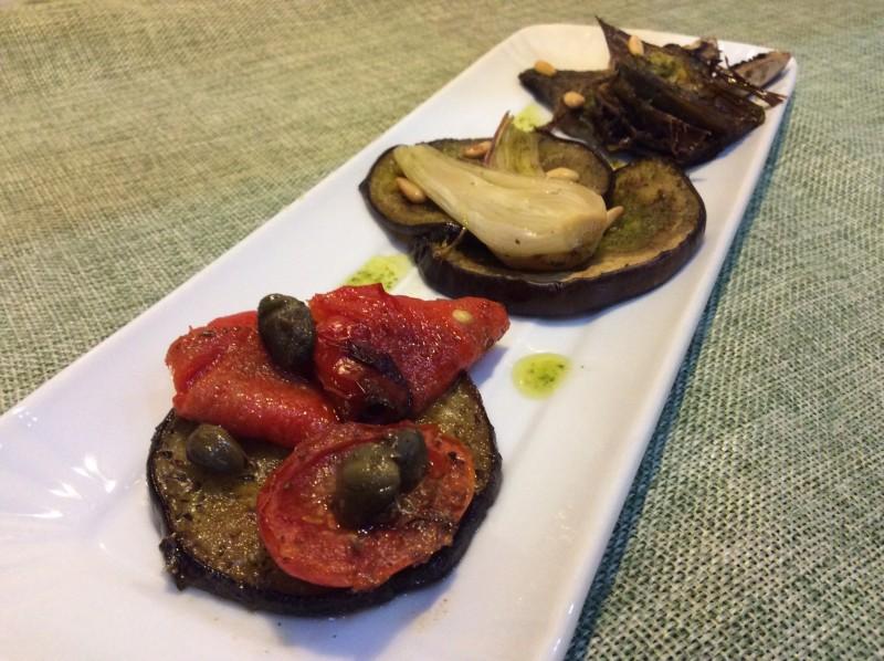 Verdure saporite al forno
