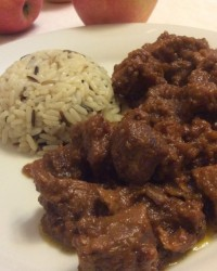 Maiale al curry rosso